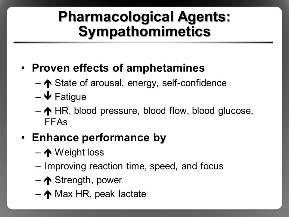 Pharmacological Agents: Sympathomimetics