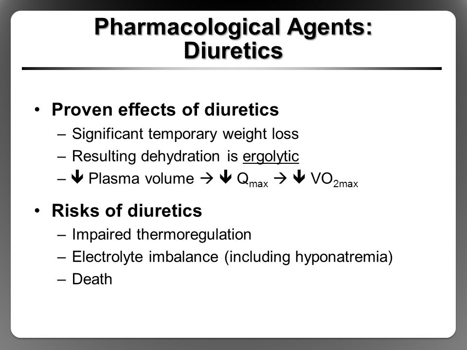 Pharmacological Agents: Diuretics