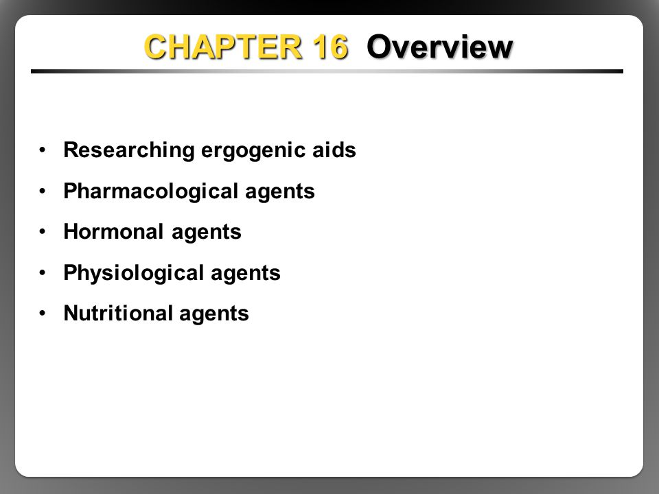 ergogenic aids in sports essay Related references the following references provide additional information on this topic: juhn, m s (2003) popular sports supplements and ergogenic aids.