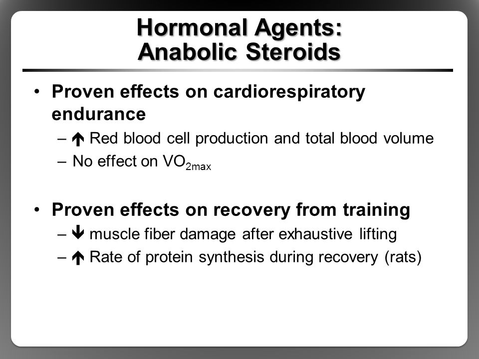Hormonal Agents: Anabolic Steroids