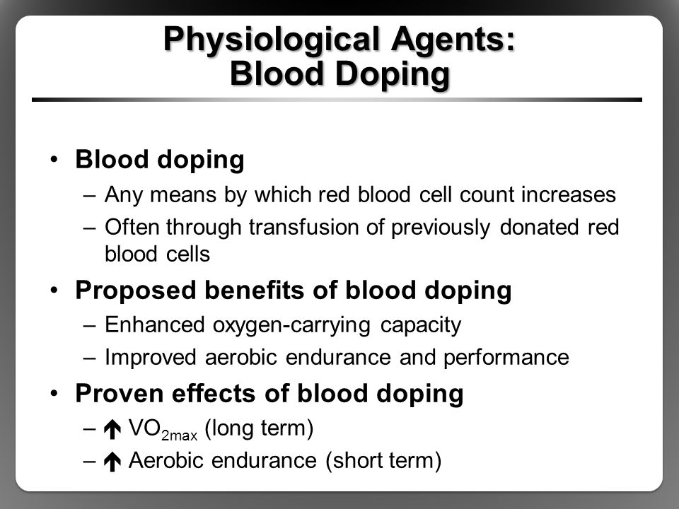 Physiological Agents: Blood Doping
