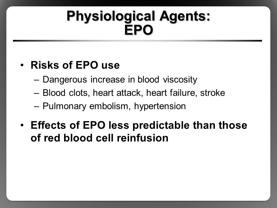 Physiological Agents: EPO