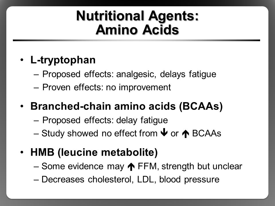 Nutritional Agents: Amino Acids