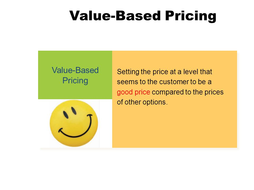 Value-Based Pricing Value-Based Pricing