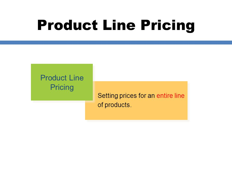 Product Line Pricing Product Line Pricing
