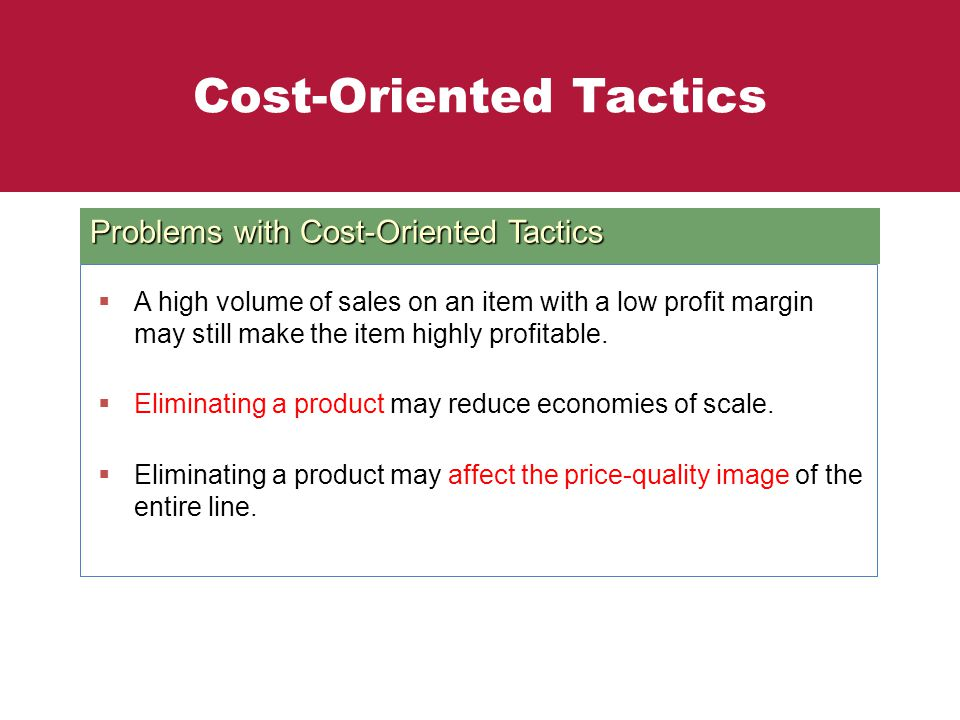 Cost-Oriented Tactics