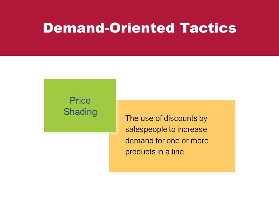 Demand-Oriented Tactics