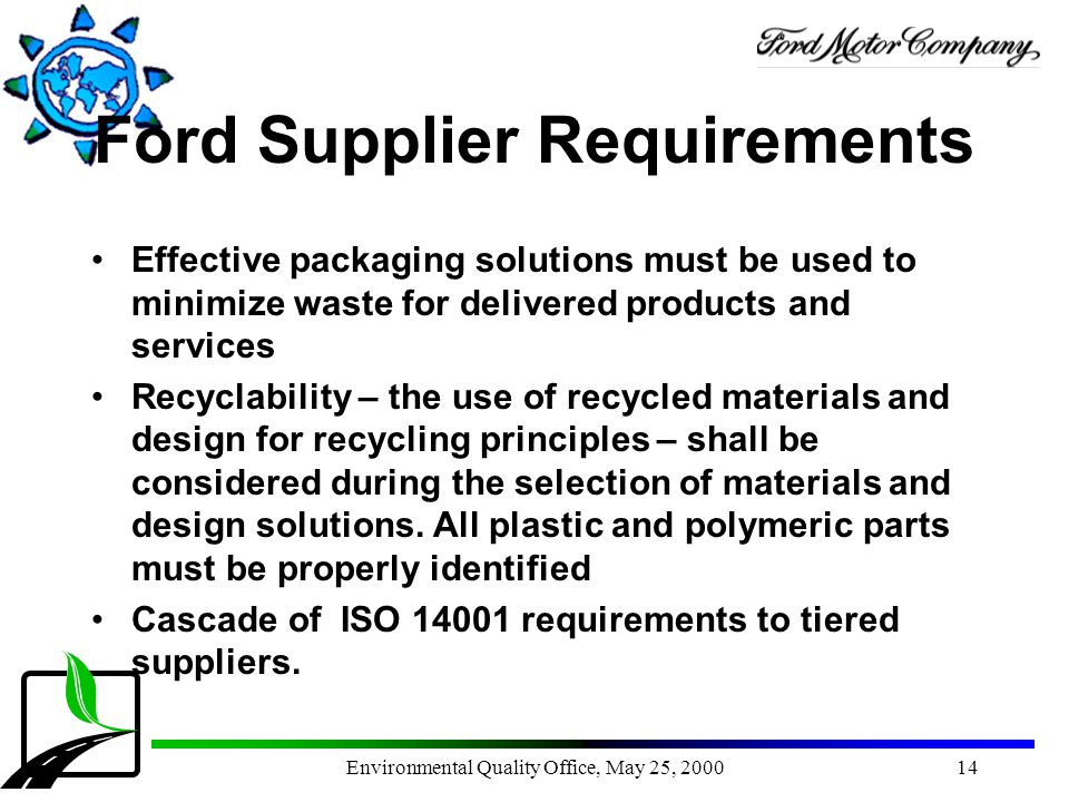 Ford Supplier Requirements