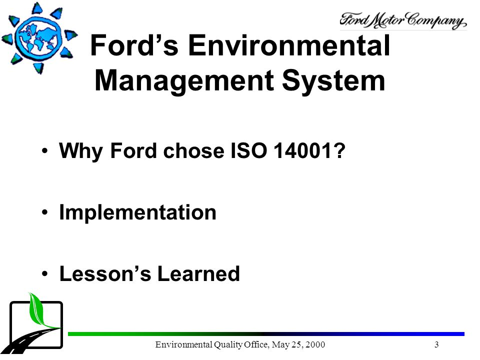 Ford's Environmental Management System