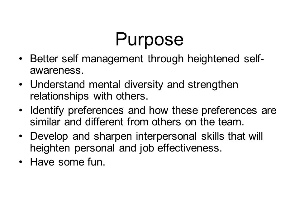 Self Awareness Career Management Essay