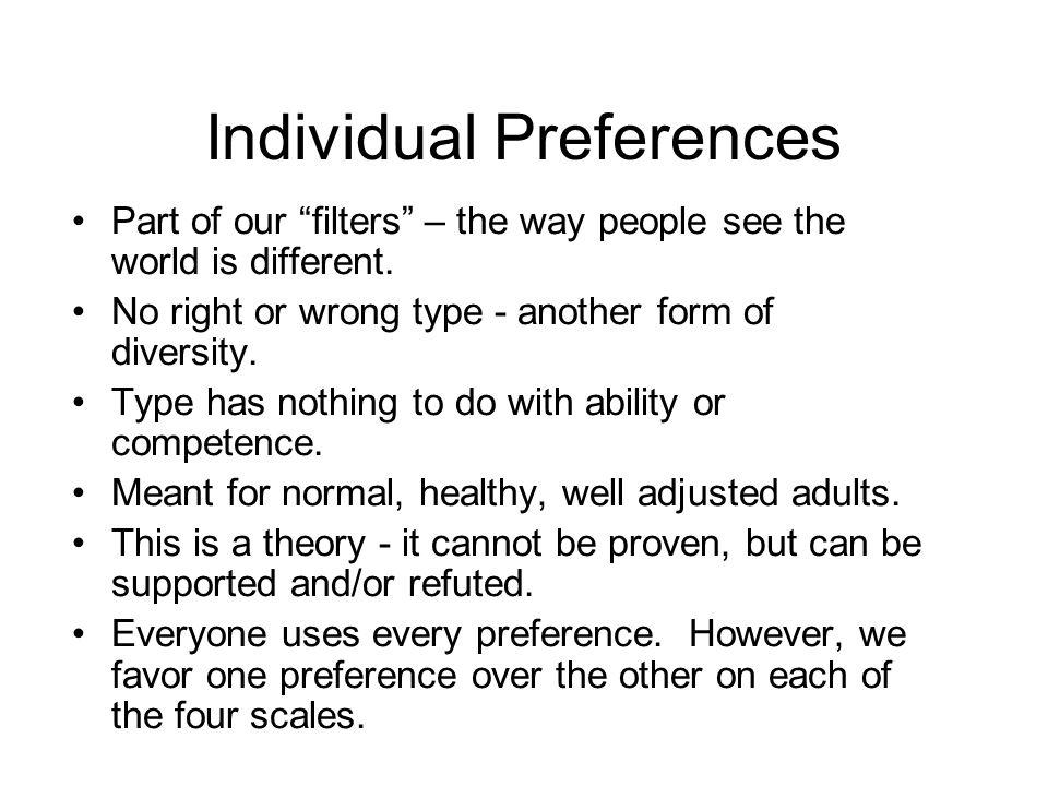 Individual Preferences
