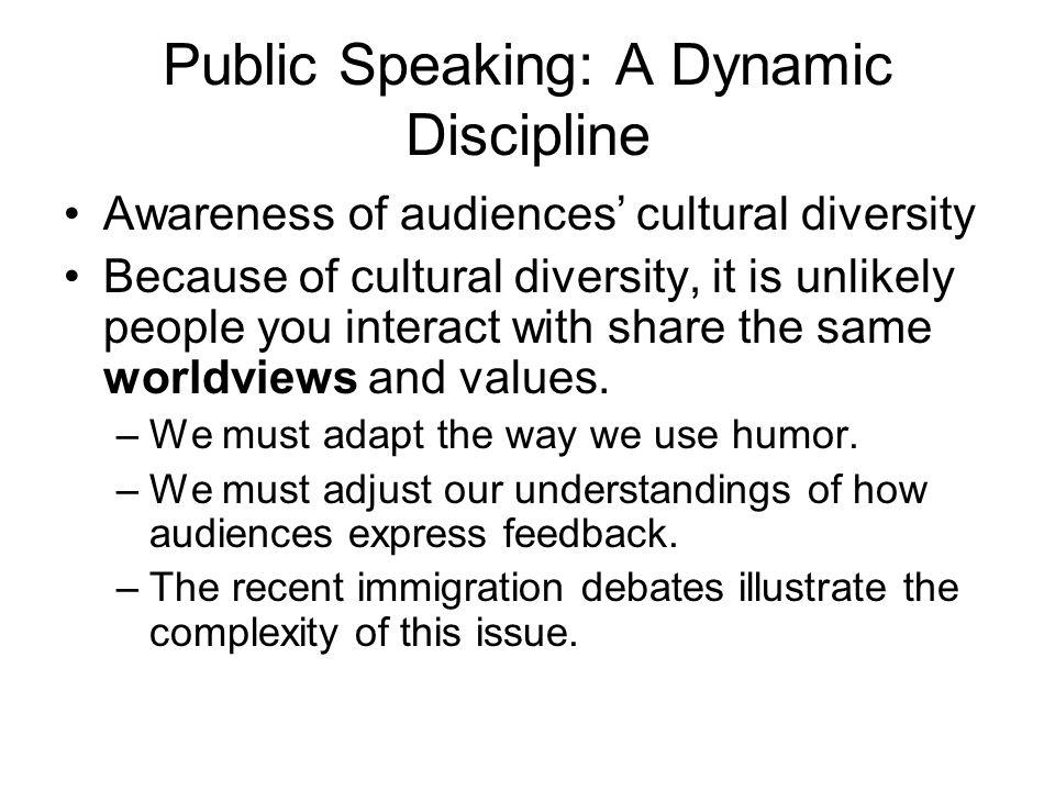Public Speaking: A Dynamic Discipline