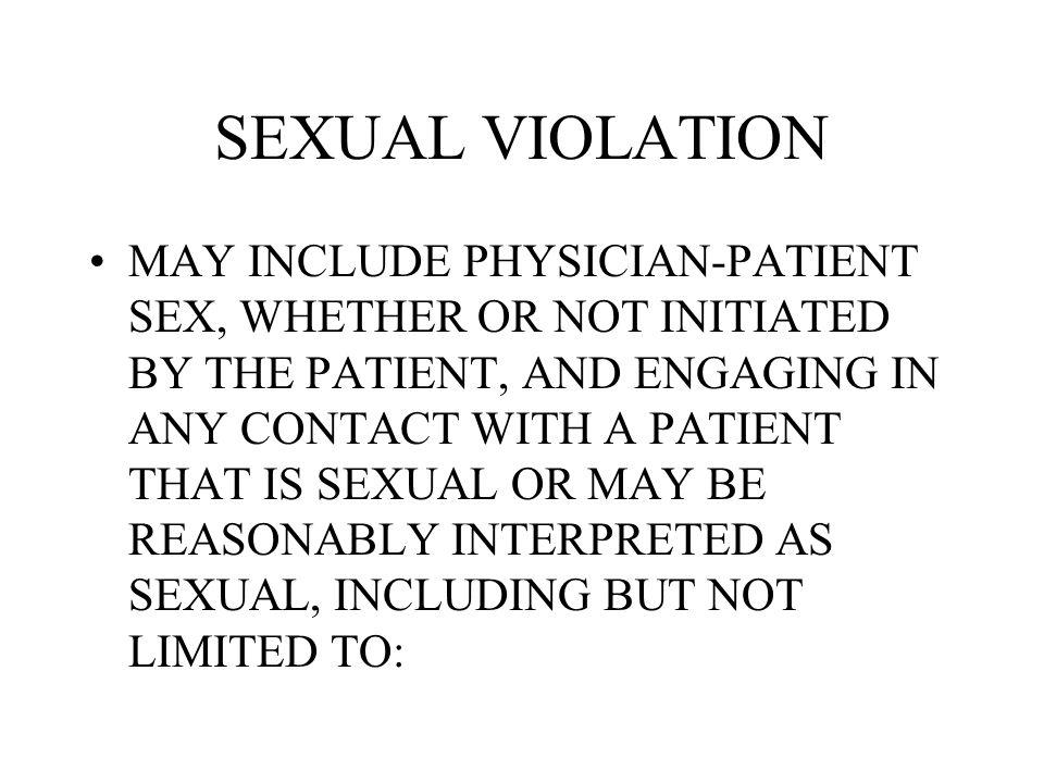 SEXUAL VIOLATION
