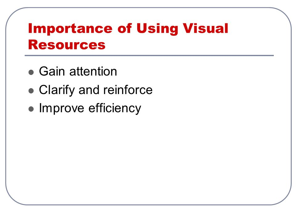 Importance of Using Visual Resources