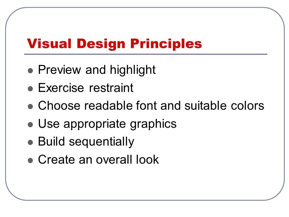 Visual Design Principles
