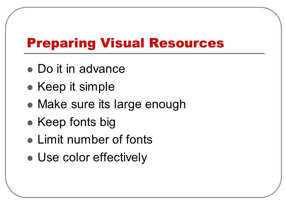 Preparing Visual Resources