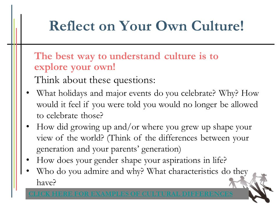 Reflect on Your Own Culture!
