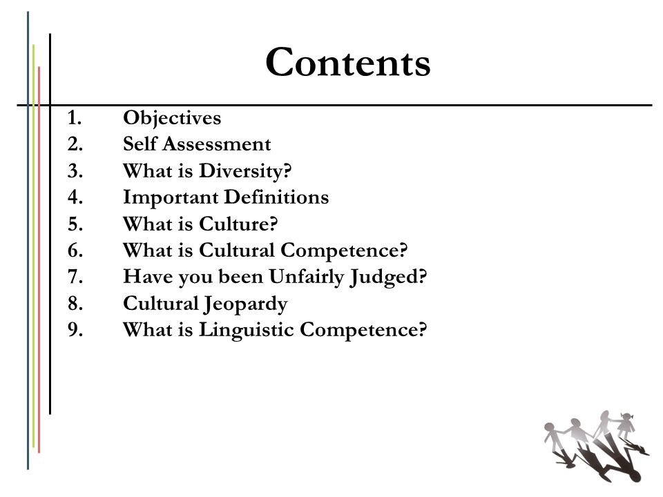 Contents Objectives Self Assessment What is Diversity