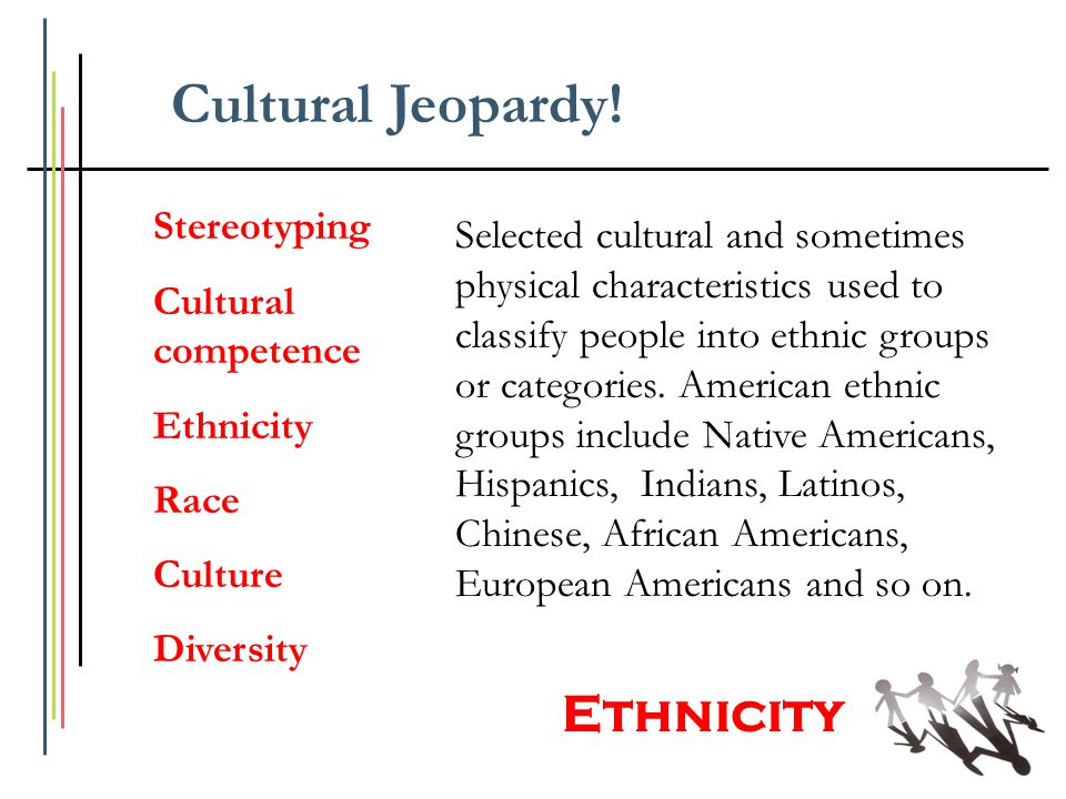 Cultural Jeopardy! Ethnicity Stereotyping