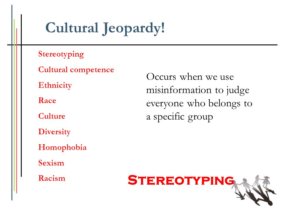 Cultural Jeopardy! Stereotyping