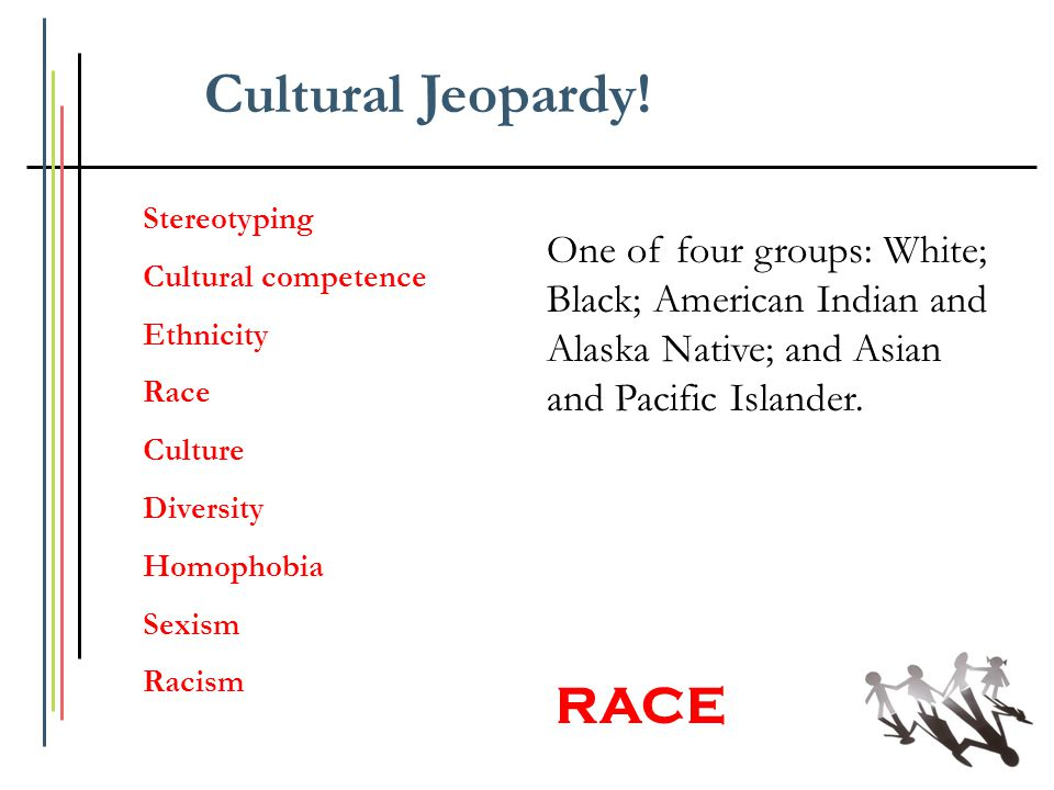 Cultural Jeopardy! RACE