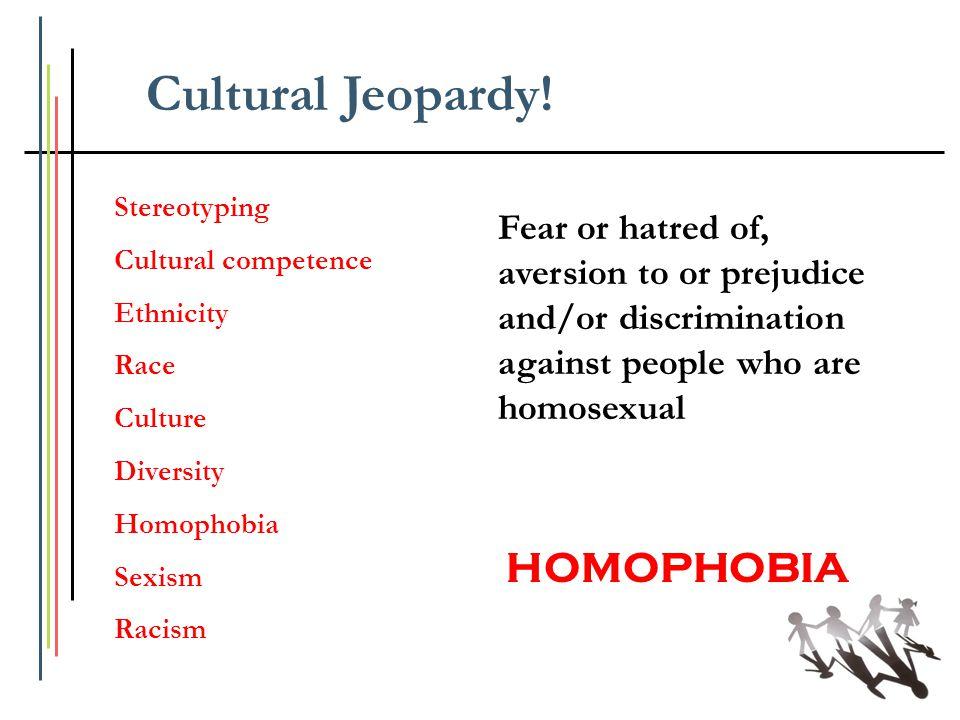 Cultural Jeopardy! HOMOPHOBIA