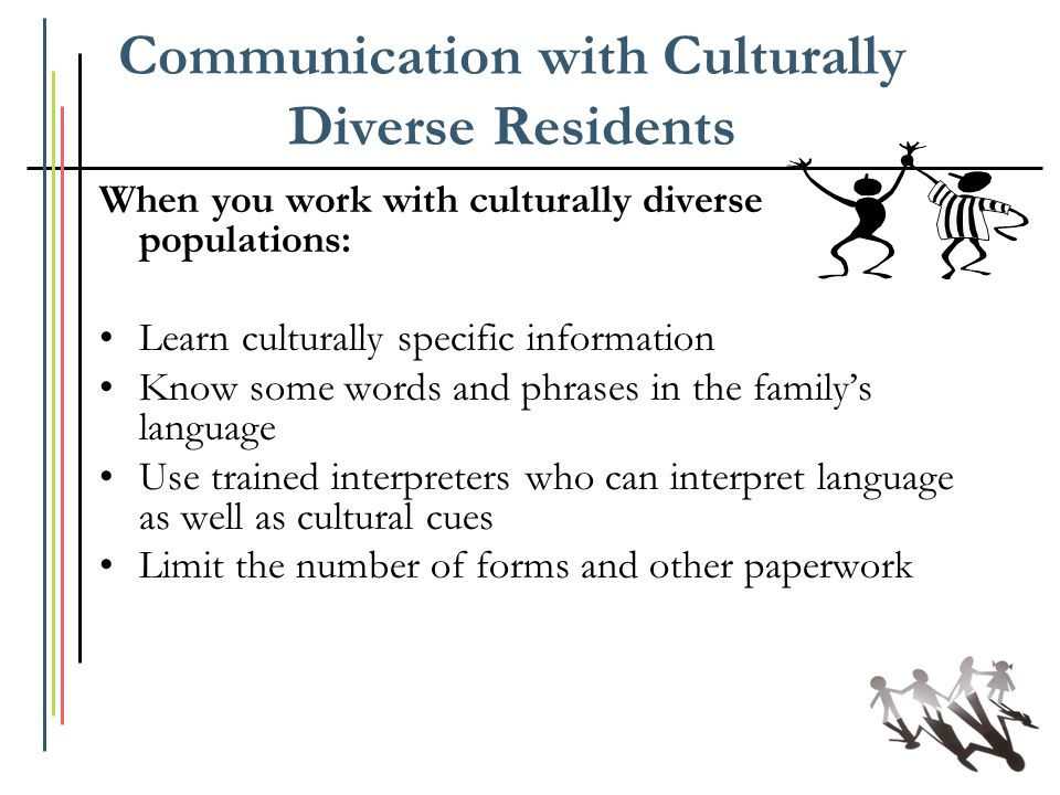 Communication with Culturally Diverse Residents
