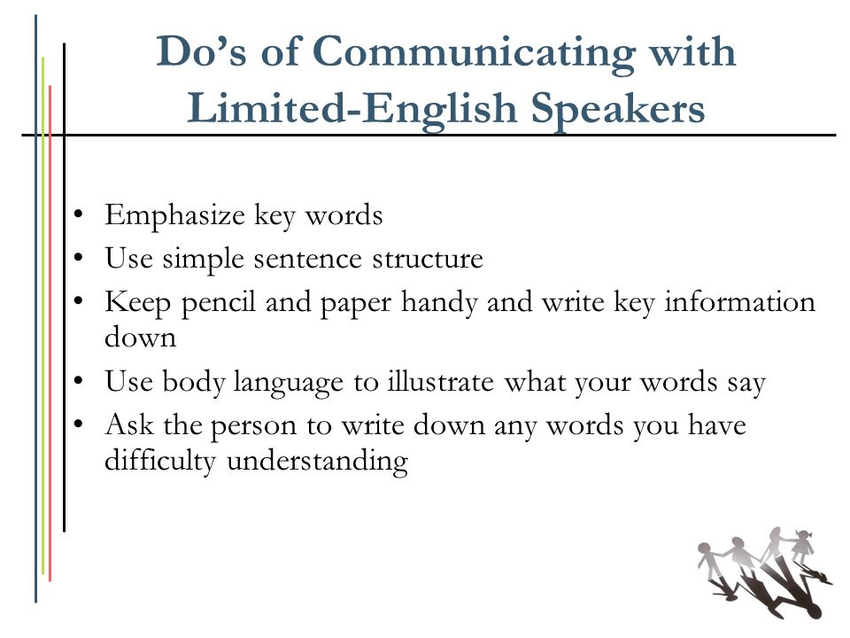 Do's of Communicating with Limited-English Speakers