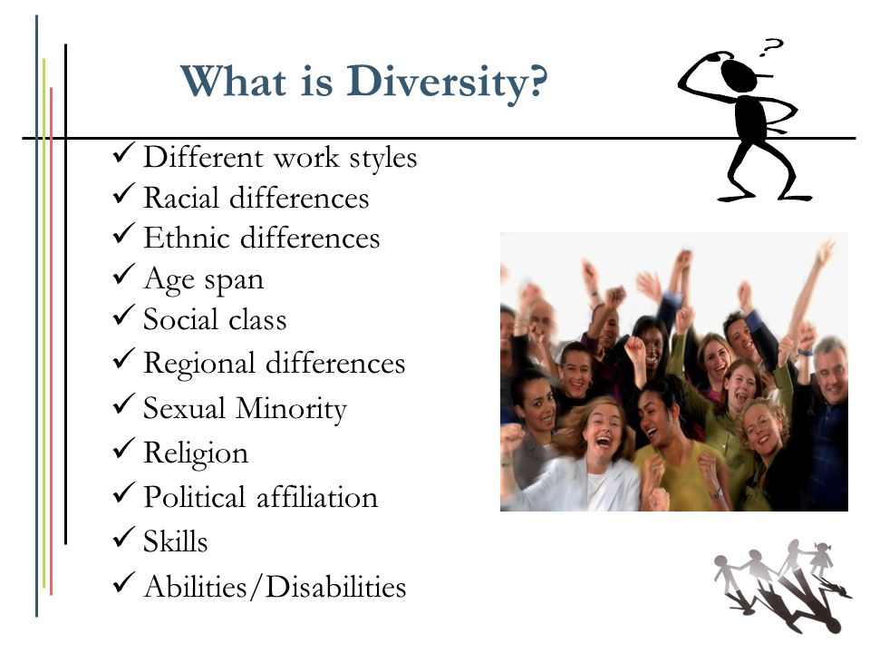 What is Diversity Different work styles Racial differences