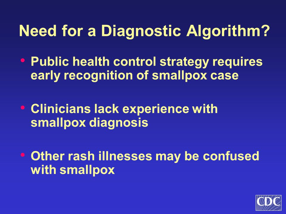 Need for a Diagnostic Algorithm