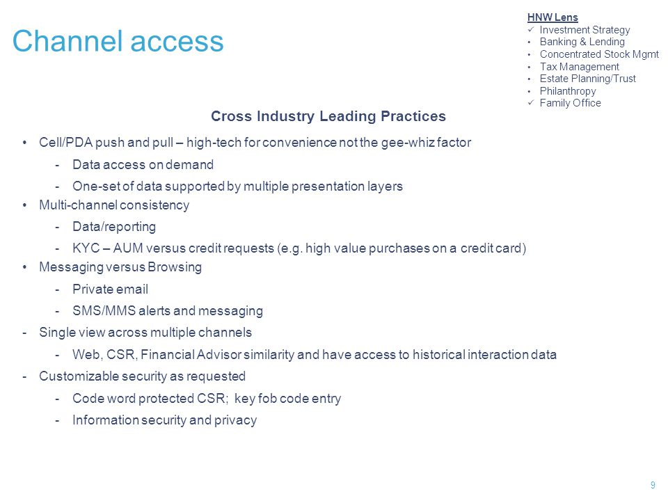 Cross Industry Leading Practices