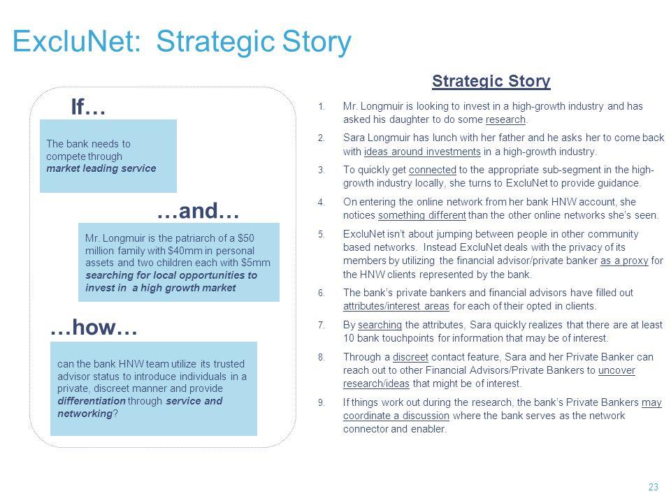 ExcluNet: Strategic Story