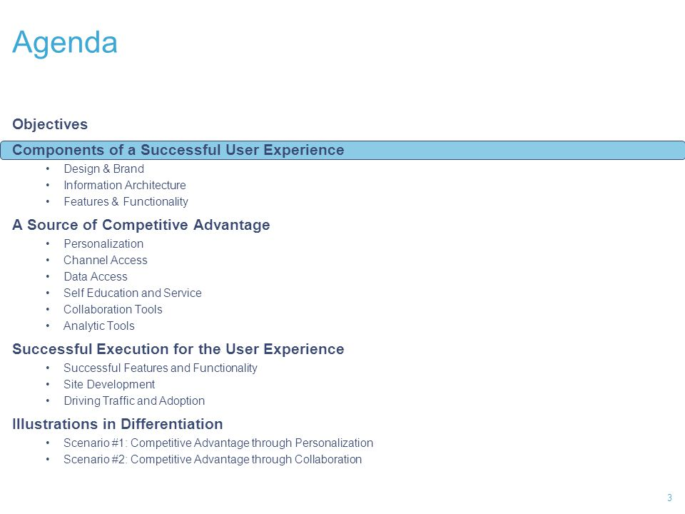 Components of a successful User Experience