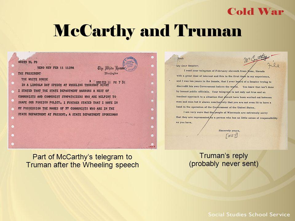McCarthy and Truman