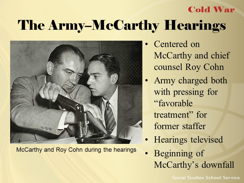 The Army–McCarthy Hearings