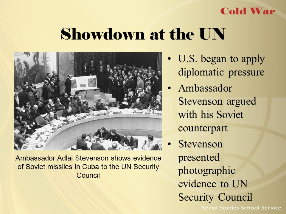 Showdown at the UN U.S. began to apply diplomatic pressure