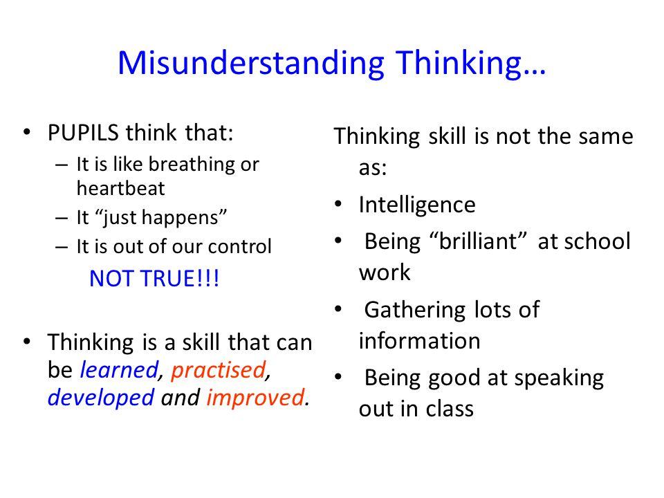 Misunderstanding Thinking…