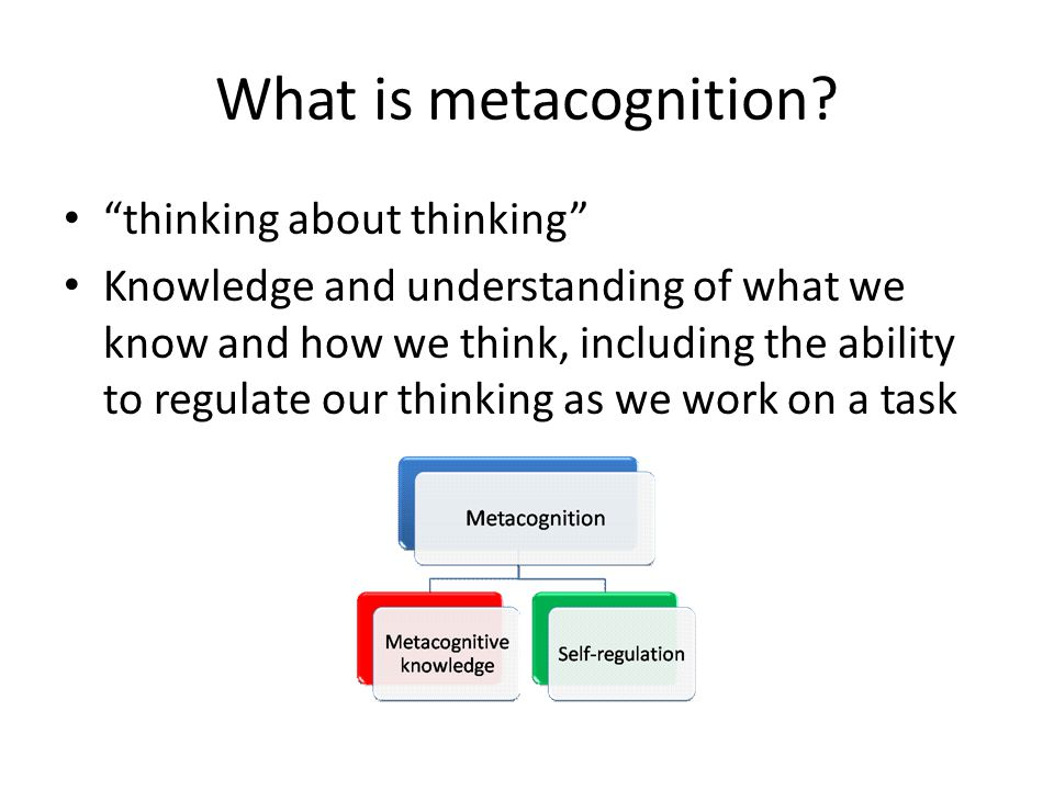 What is metacognition thinking about thinking
