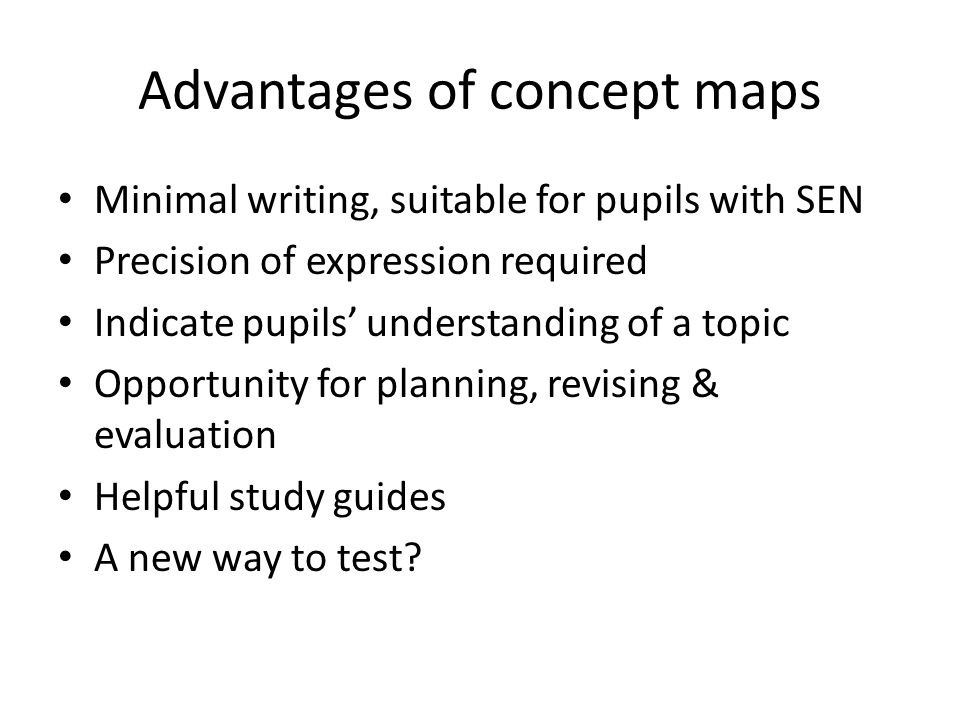 Advantages of concept maps