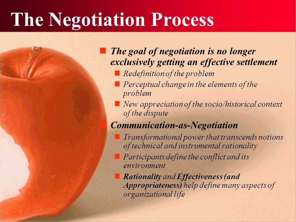 The Real Negotiation Problem Issue