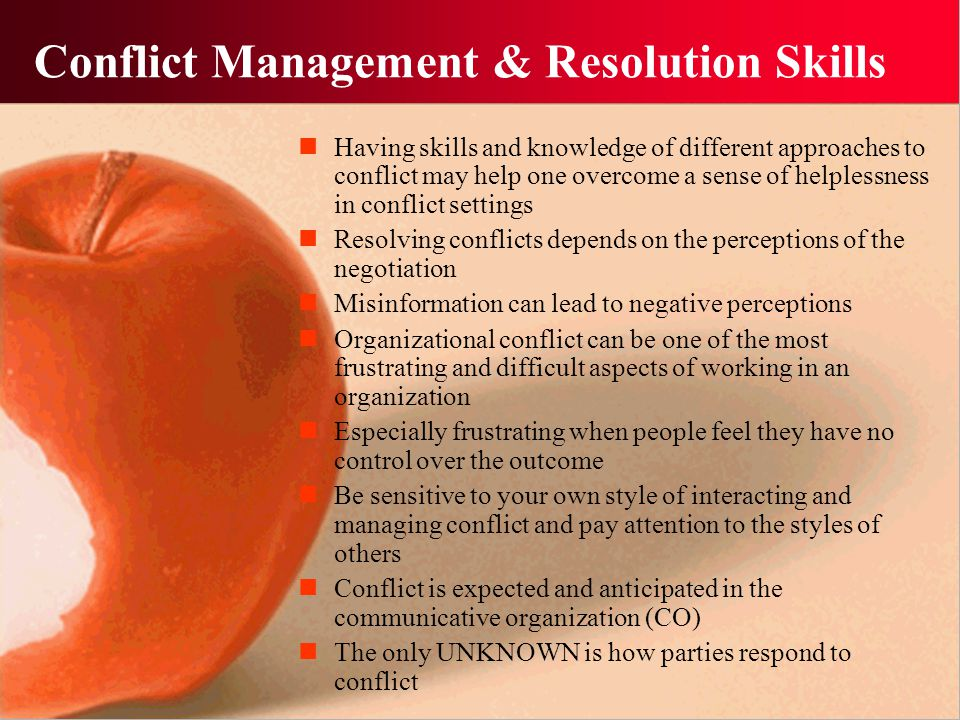 Conflict Management & Resolution Skills