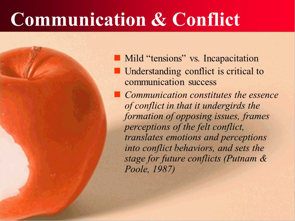Communication & Conflict
