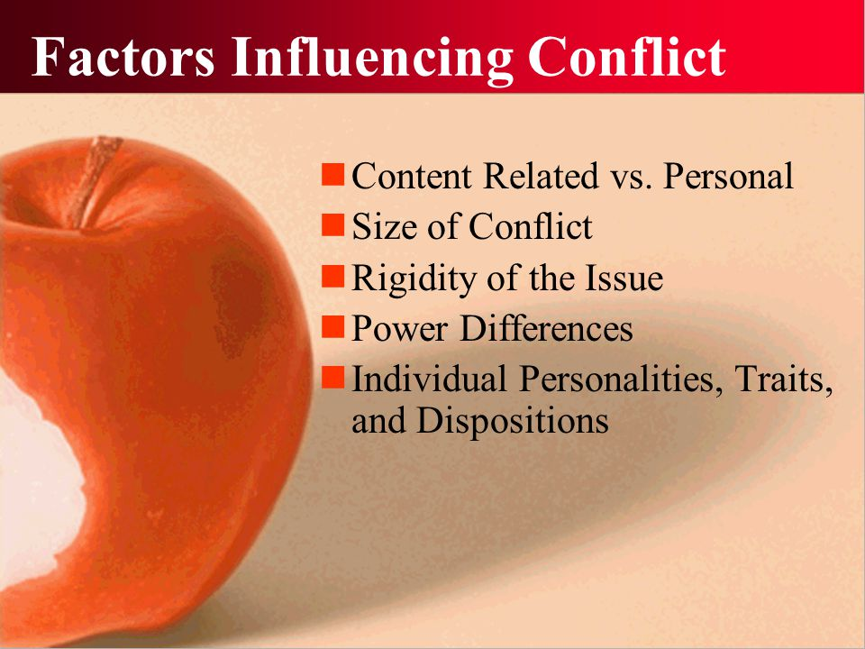 Factors Influencing Conflict