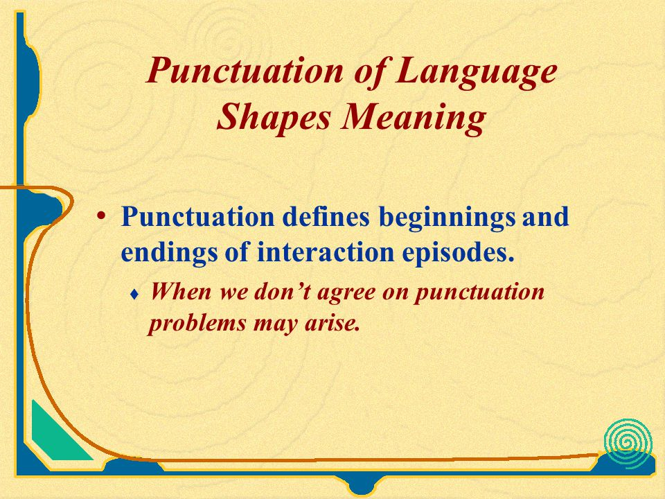 Punctuation of Language Shapes Meaning