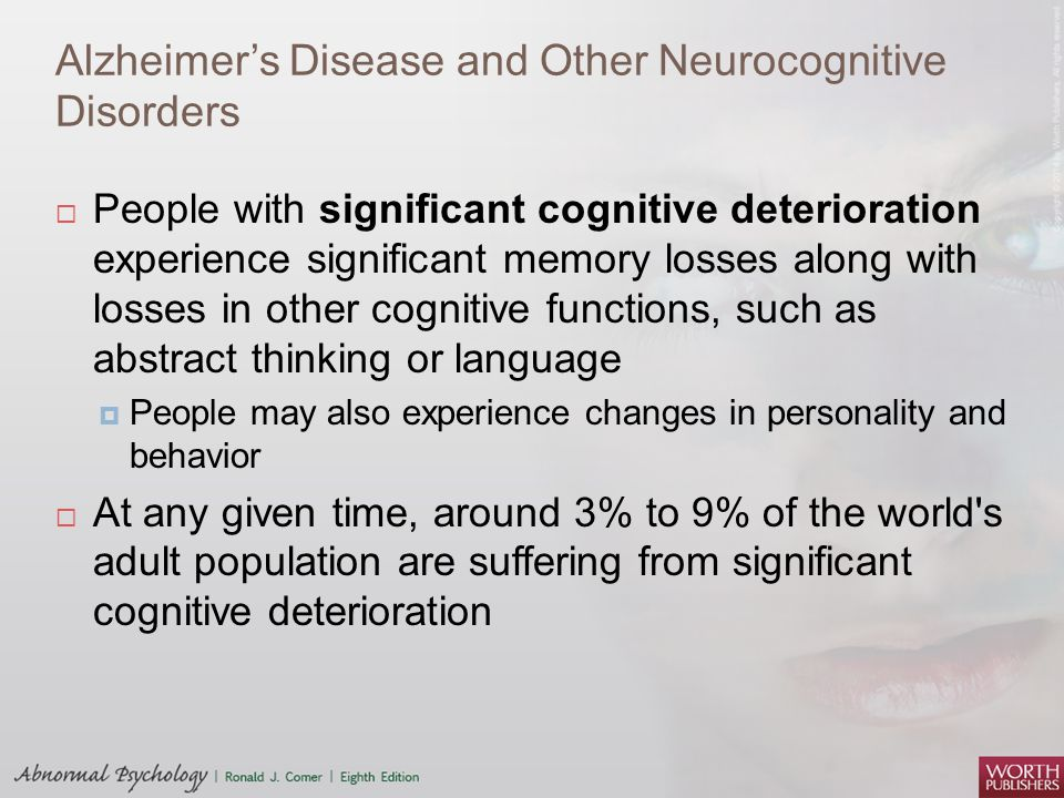 Alzheimer's Disease and Other Neurocognitive Disorders
