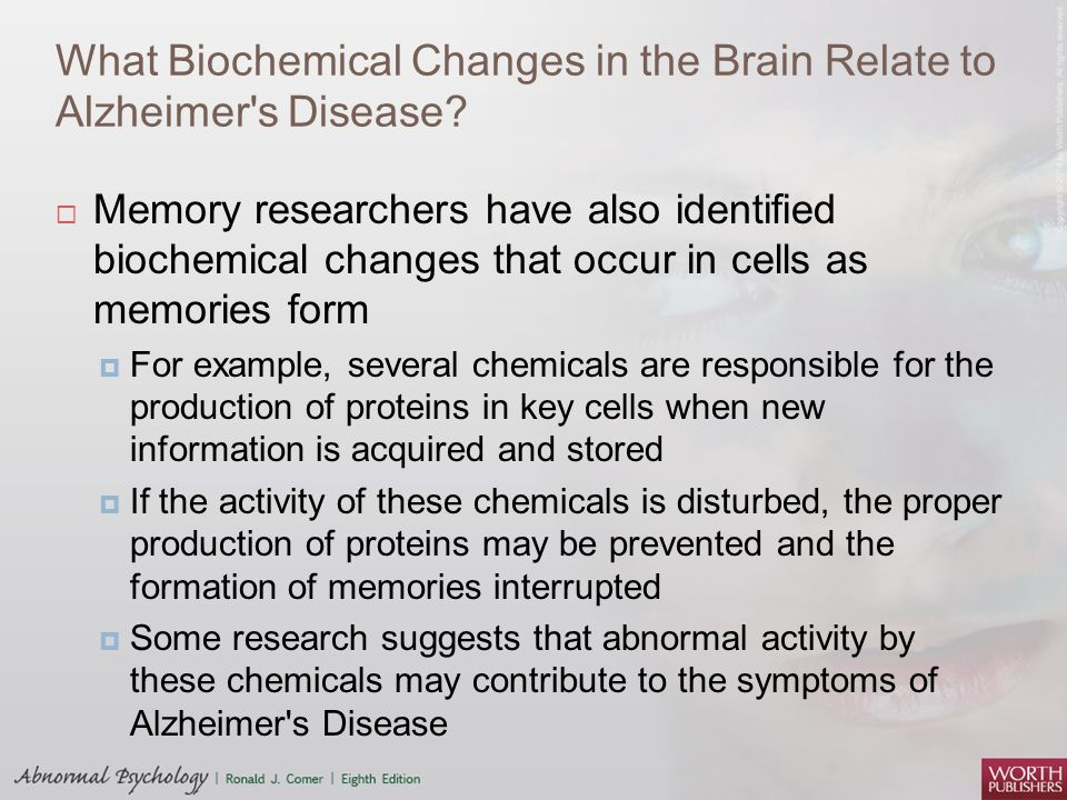 What Biochemical Changes in the Brain Relate to Alzheimer s Disease