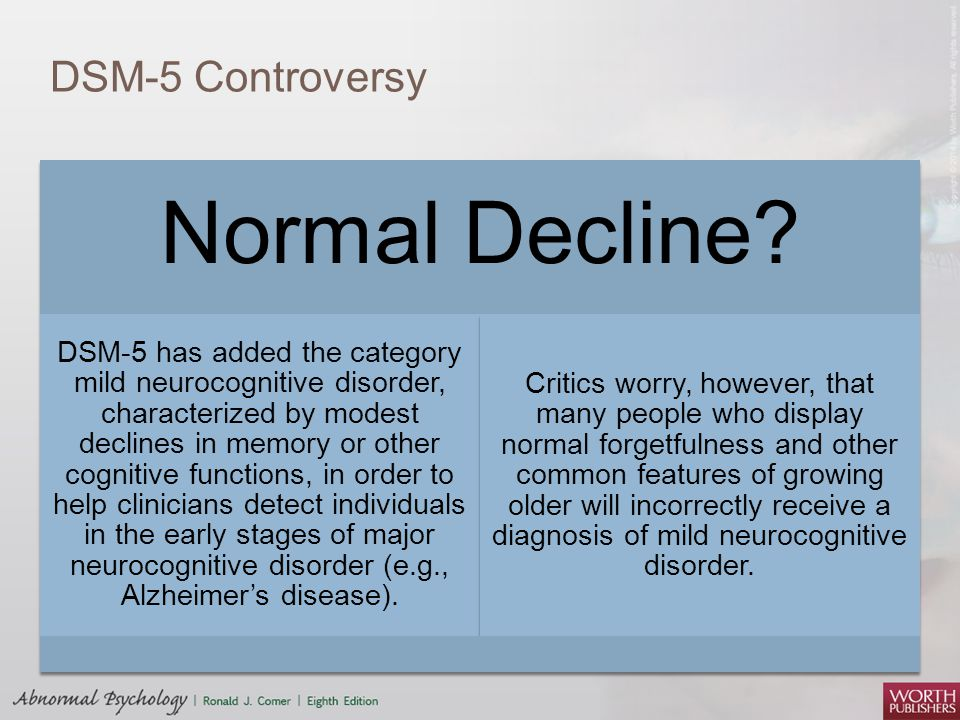 Normal Decline DSM-5 Controversy