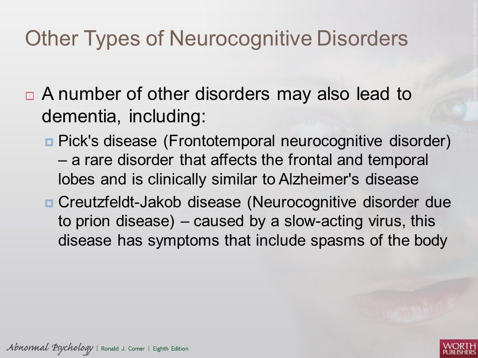 Other Types of Neurocognitive Disorders