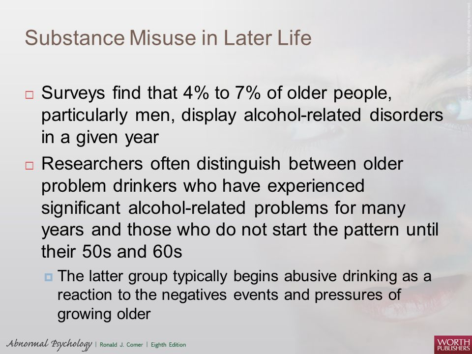 Substance Misuse in Later Life