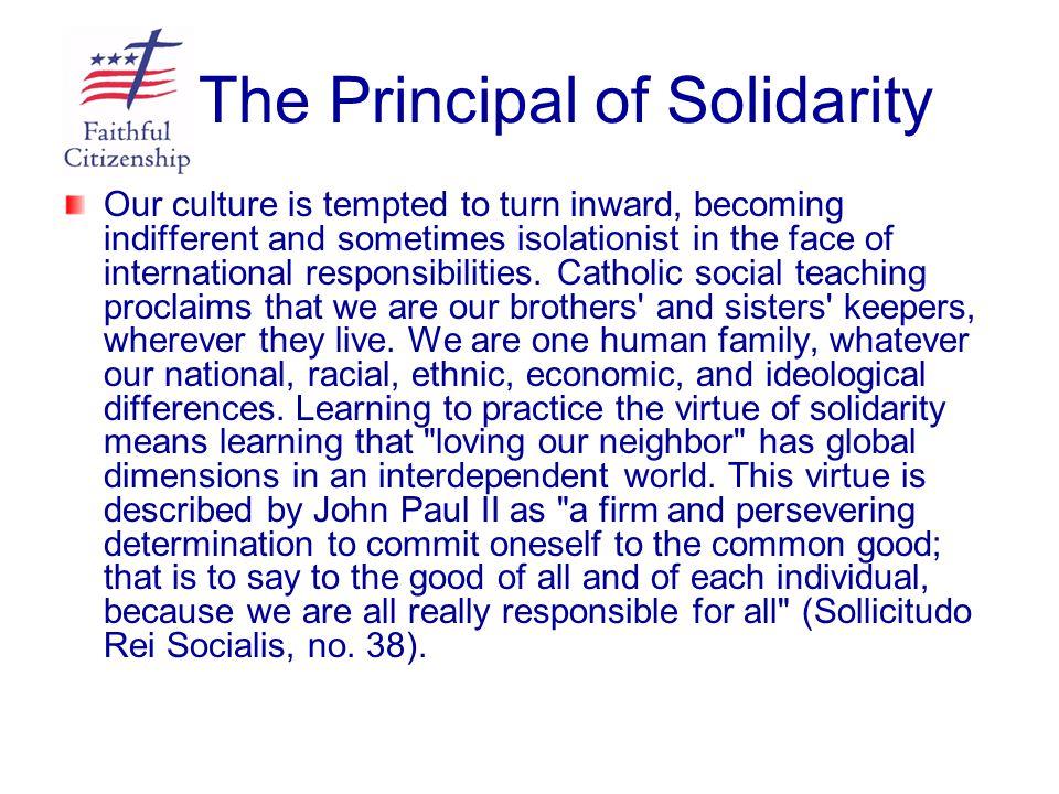 The Principal of Solidarity